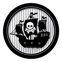 Creative Party - Assiettes Pirate Rebel x8