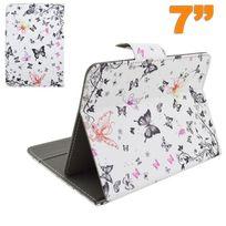 Yonis - Housse tablette 7 pouces universelle protection ajustable papillon