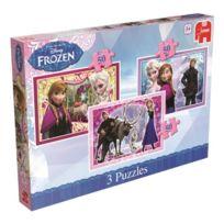 Jumbo - Disney - La Reine Des Neiges - 3 Puzzles 50 PiÈCES - 27 X 18 Cm