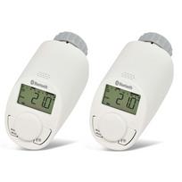 Eq3-AG - Pack de 2 têtes thermostatiques pour radiateur avec Bluetooth - eQ-3