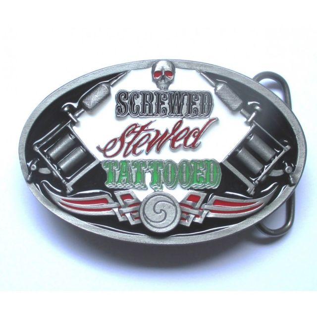 bf44b930eb07 Universel - Boucle de ceinture machine a tatouer srewed stewed  tattooedrockabilly homme femme