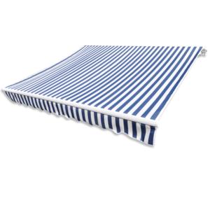 Vidaxl - Store banne en toile Bleu et Blanc 3 x 2,5 m Cadre non inclus