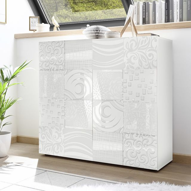 Kasalinea Argentier design blanc laqué Nerina