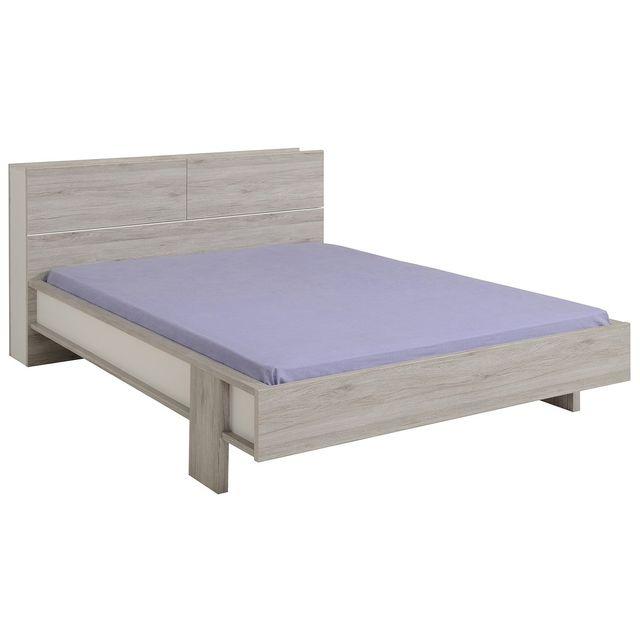 altobuy romeo ch ne lit avec t te de lit 140x190cm pas cher achat vente structures de. Black Bedroom Furniture Sets. Home Design Ideas