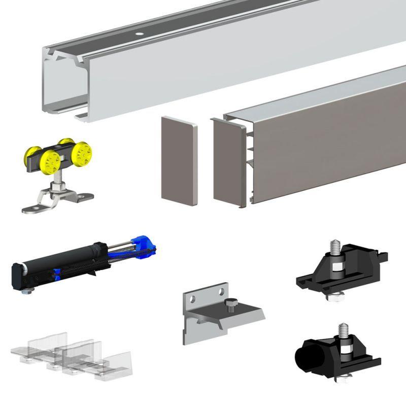 Pack Premium Slid'UP 160 pour porte coulissante jusqu'à 1000 mm - Rail 2 m - 60 kg