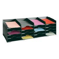 Paperflow - Bloc classeur noir 20 séparateurs pour armoire - L 103 cm