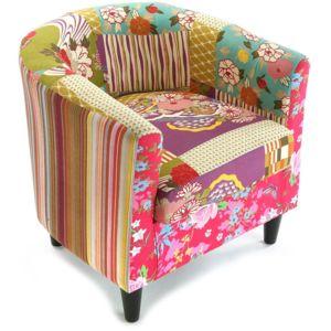 versa fauteuil patchwork boh me pas cher achat vente fauteuils rueducommerce. Black Bedroom Furniture Sets. Home Design Ideas