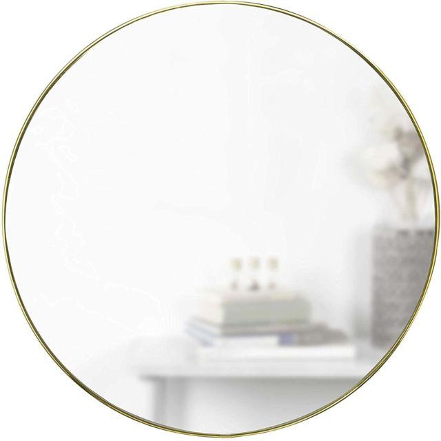 UMBRA Miroir en métal doré 86 cm Hubba