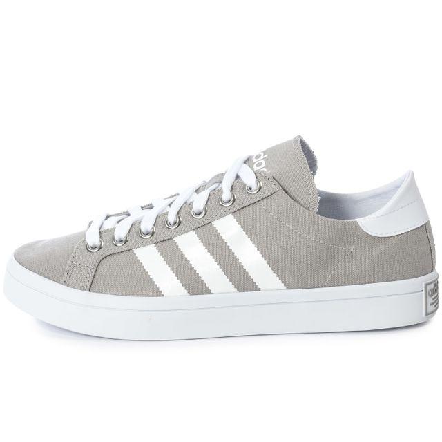 e766404d5559 Adidas - Court Vantage Grise - pas cher Achat / Vente Baskets homme ...