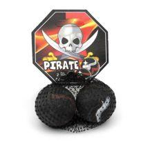 Kimplay - Filet De 2 Boulards / Calots Pirate 4.2Cm - Bille Jeu De Recreation
