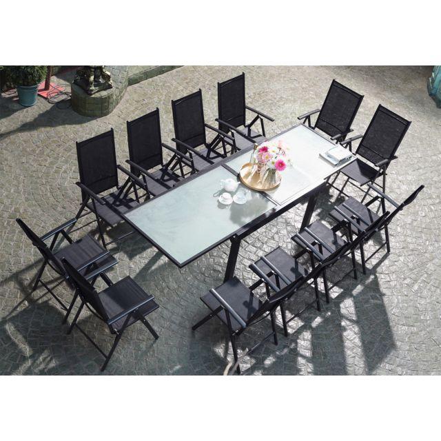 CONCEPT USINE - Breshia 12 : Salon de jardin en aluminium et ...