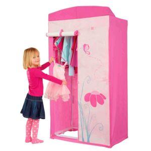worlds apart armoire penderie fille papillons fleurs flora pas cher achat vente armoire. Black Bedroom Furniture Sets. Home Design Ideas