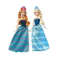 LA REINE DES NEIGES - Lot de 2 poupées Anna et Elsa