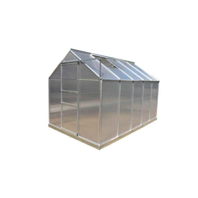 Habrita Serre Jardin Structure Alu Polycarbonate 4 Mm Pas Cher Achat Vente Serres En Verre Rueducommerce