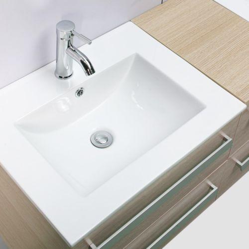 import diffusion ensemble complet meuble salle de bain pure 2 vasques 2 miroirs ch ne clair. Black Bedroom Furniture Sets. Home Design Ideas