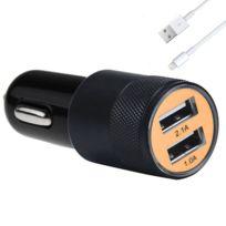 Lapinette - Chargeur Voiture Double Port Usb + Cable Pour Apple Iphone 5c
