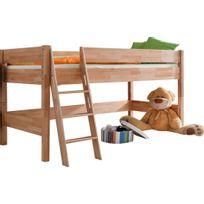 Lit enfant mi hauteur achat lit enfant mi hauteur pas cher rue du commerce - Lit mi hauteur bois massif ...