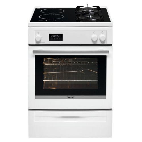 brandt cuisini re mixte gaz induction bci6655w achat vente cuisini re chaleur tournante pas. Black Bedroom Furniture Sets. Home Design Ideas