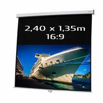 Kimex - Ecran de projection manuel 2,40 x 1,35m, format 16:9