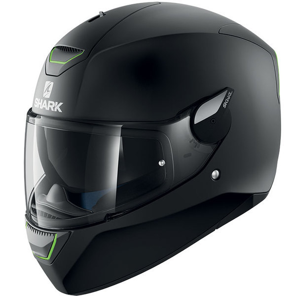 casque moto intégral polycarbonate Skwal Blank Kma noir mat Promo Xl