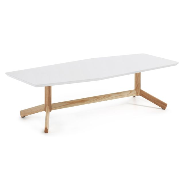 Kavehome Table basse Tropid, frene et blanc