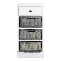 Meuble tiroirs avec paniers achat meuble tiroirs avec for Meuble tiroir osier blanc