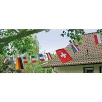 Eduplay - Guirlande De Fanions - 10 Drapeaux En Coton Blanc À DÉCORER Ou À Peindre