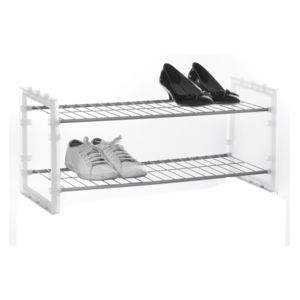 jja rack chaussures superposable blanc pas cher achat vente rangements chaussures. Black Bedroom Furniture Sets. Home Design Ideas