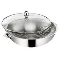 LAGOSTINA - wok en acier 30 cm avec couvercle - 011193042030