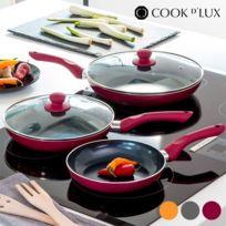Marque Generique - Jeu de 5 pièces pour cuisine 3 Poeles Couleur - Orange