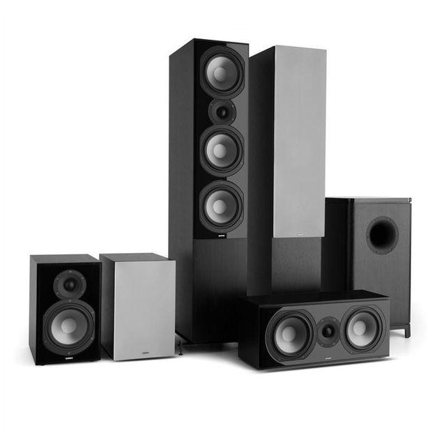 NUMAN Reference 851 Système Home Cinema 5.1 noir avec protection argent