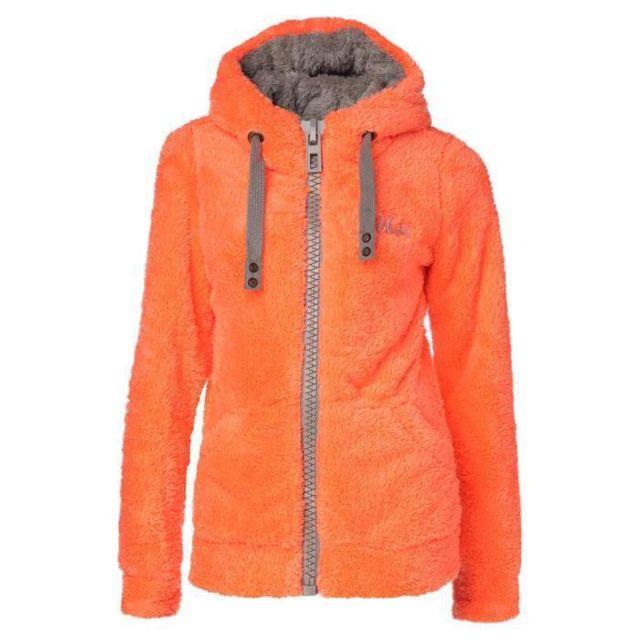 Veste polaire orange femme