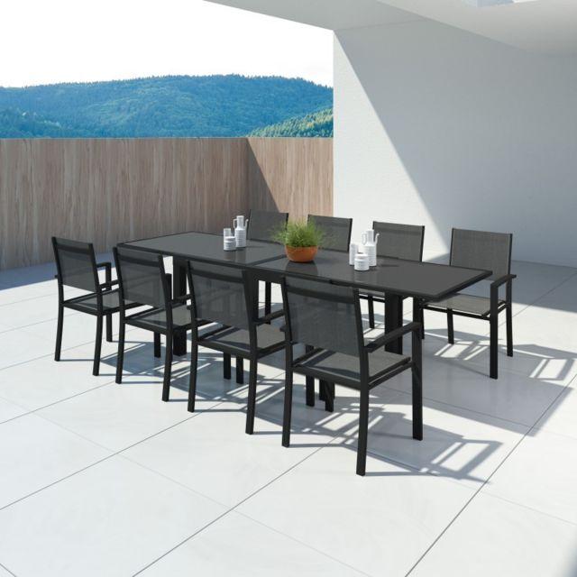 Avril Paris Hara Xl Table De Jardin Extensible Aluminium 140