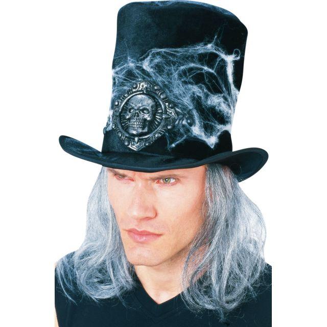 Rubies - Chapeau Haut-de-forme avec Perruque - Halloween - pas cher ... ccd90884baa