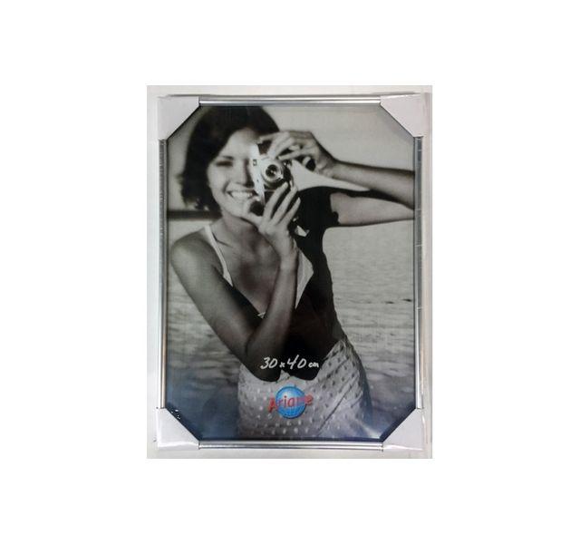 Ariane Cadre photo plastique argent - 13 19