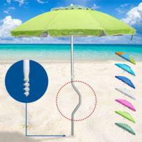 Girafacile - Parasol de plage aluminium leger visser