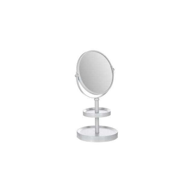 miroir sur pied 2 plateaux blanc pas cher achat vente accessoires de salle de bain. Black Bedroom Furniture Sets. Home Design Ideas