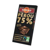 Alter Eco - Chocolat Noir Pérou 75% Bio 100g