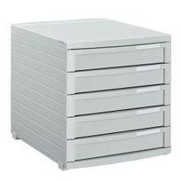 Han - Module de classement Contur 5 tiroirs fermés gris