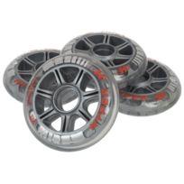 Hyper - Roues de roller X 350 90mm-85a pack4 Gris 15323