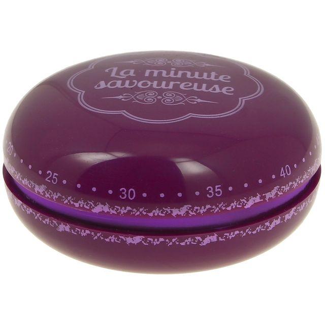 Promobo Minuteur Cuisine Forme Macaron Design Gourmand Prune