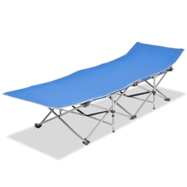 Chaise longue Chaise pliable Acier pliable Bleu Bleu longue Chaise Acier hrCtdsQ