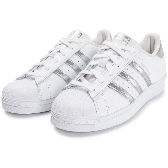 Adidas originals - Superstar Blanche Et Argent 38