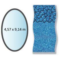 SWIMLINE - liner boulder forme ovale 4,57x9,14m pour piscine hors sol - li1530sbo
