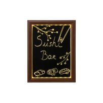 Securit - Panneau lumineux à Led pour cafés et restaurants cadre bois 40 50cm
