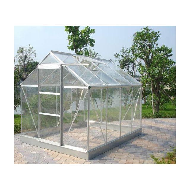 Jardin express serre de jardin 106 verre trempe 4 mm 5 - Serre de jardin en verre pas cher ...