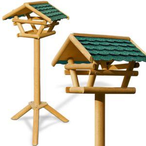 Rocambolesk superbe mangeoire pour oiseaux cabane abri for Mangeoire sur pied pour oiseaux du jardin