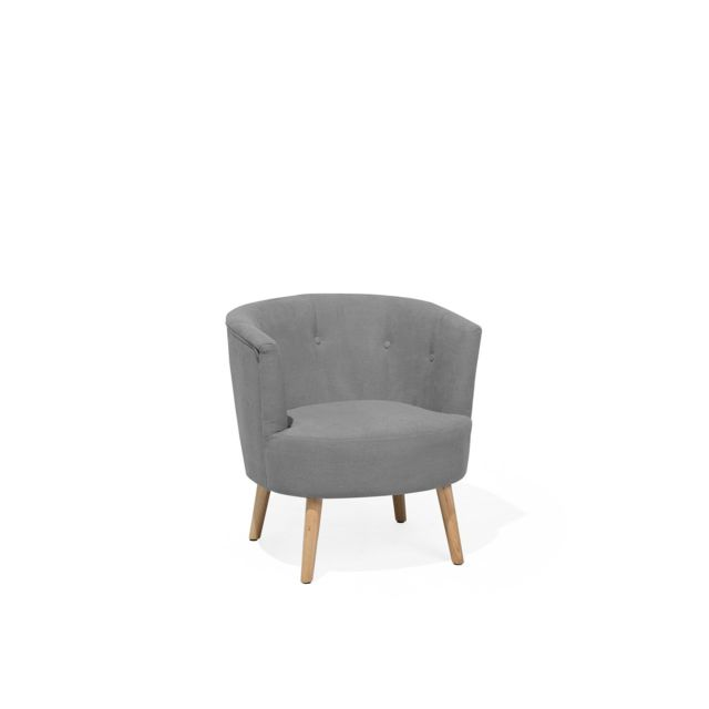 BELIANI Fauteuil en tissu gris clair ODENZEN - gris clair