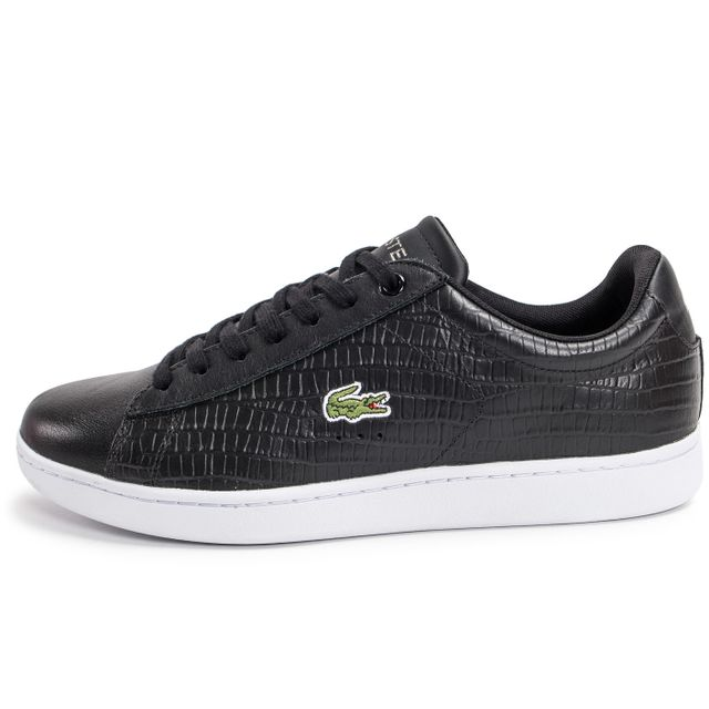 Baskets Carnaby Evo Lacoste Achat Noire Cher Croc Vente Pas 7gbfy6