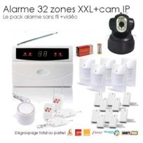 SecuriteGOODdeal - Kit alarme de maison, 32 Zones Xxl Box et camera Ip